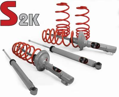 Suspension - Lowering Springs - B&G Suspension - Volkswagen Golf B&G S2K Sport Lowering Suspension Kit - 96.3.101