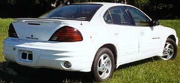 Spoilers - Custom Wing - California Dream - Pontiac Grand Am California Dream Custom Style Spoiler - Unpainted - 98N
