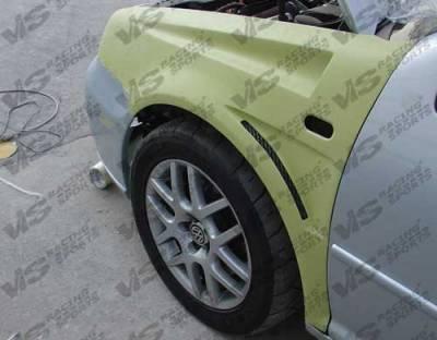 Jetta - Fenders - VIS Racing - Volkswagen Jetta VIS Racing Bullet Fenders - 93VWJET4DBU-007