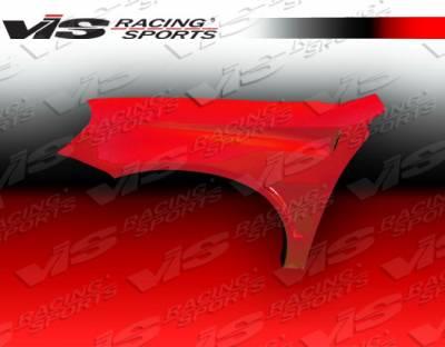 Integra 2Dr - Fenders - VIS Racing - Acura Integra VIS Racing Bullet Fenders - 94ACINT2DBU-007