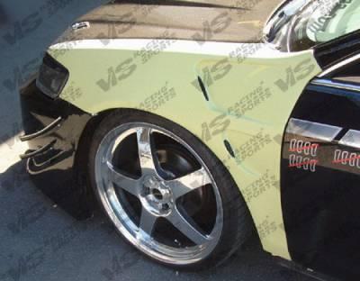 Prelude - Fenders - VIS Racing - Honda Prelude VIS Racing Laser Fenders - 97HDPRE2DLS-007