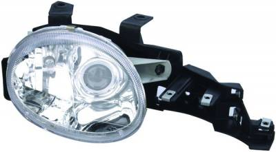 Headlights & Tail Lights - Headlights - APC - Dodge Neon APC Headlights with Projector Foglights & Chrome Housing - 403525HL