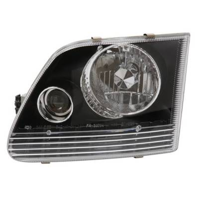 Headlights & Tail Lights - Headlights - APC - Ford Expedition APC Headlights with Projector Foglights & Chrome Housing - 403620HL