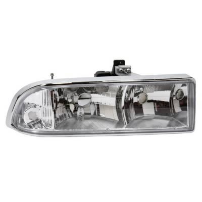 Headlights & Tail Lights - Headlights - APC - Chevrolet S10 APC Headlights with Chrome Housing - 403621HLD