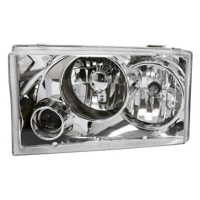 Headlights & Tail Lights - Headlights - APC - Ford Excursion APC Headlights with Projector Foglights & Chrome Housing - 403622HL
