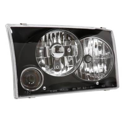 Headlights & Tail Lights - Headlights - APC - Ford Excursion APC Headlights with Projector Foglights & Black Housing - 403622HLB