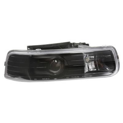 Headlights & Tail Lights - Headlights - APC - Chevrolet Silverado APC Projector Headlights with Black Housing - 403650HLB
