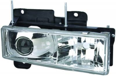 Headlights & Tail Lights - Headlights - APC - Chevrolet CK Truck APC Projector Headlights with Chrome Housing - 403660HL