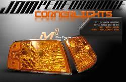 Headlights & Tail Lights - Corner Lights - Custom - Euro Clear Corner Lights Amber