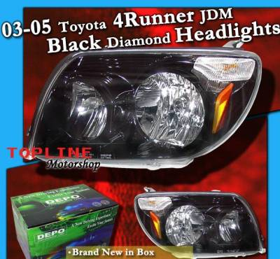 Headlights & Tail Lights - Headlights - Custom - Black Diamond Headlights Amber