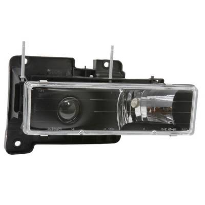 Headlights & Tail Lights - Headlights - APC - GMC CK Truck APC Projector Headlights with Black Housing - 403660HLB