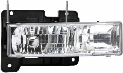 Headlights & Tail Lights - Headlights - APC - GMC Yukon APC Projector Headlights with Chrome Housing - 403660HLD