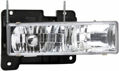 Headlights & Tail Lights - Headlights - APC - GMC CK Truck APC Projector Headlights with Chrome Housing - 403660HLD