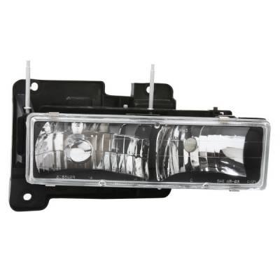Headlights & Tail Lights - Headlights - APC - GMC CK Truck APC Headlights with Black Housing - 403660HLDB