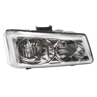 Headlights & Tail Lights - Headlights - APC - Chevrolet Silverado APC Headlights with Chrome Housing - 403680HLD