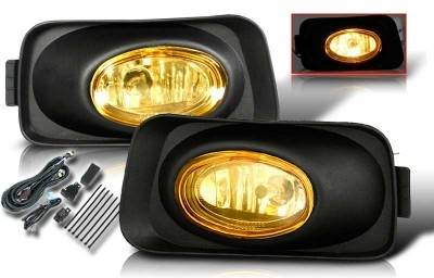 WinJet - Acura TSX WinJet OEM Fog Light - Yellow - Wiring Kit Included - WJ30-0001-12