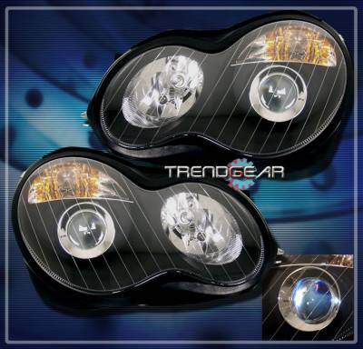 Headlights & Tail Lights - Headlights - Custom - Black Pro Headlights With Amber