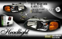 Headlights & Tail Lights - Headlights - Custom - Black Headlights Amber