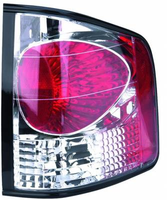 Headlights & Tail Lights - Tail Lights - APC - Chevrolet S10 APC Euro Taillights with Chrome Housing - 404112TLR