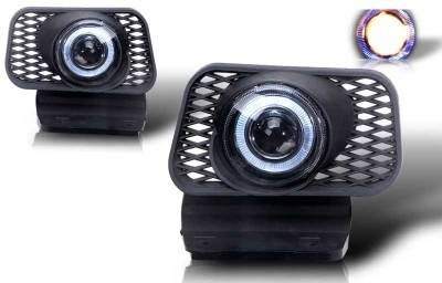 WinJet - Chevrolet Silverado WinJet Halo Projector Fog Light - Clear - WJ30-0057-09
