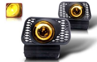 WinJet - Chevrolet Silverado WinJet Halo Projector Fog Light - Yellow - WJ30-0057-12