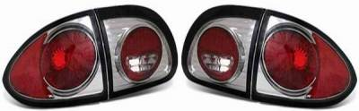 Headlights & Tail Lights - Tail Lights - APC - APC Taillights with Smoke Housing - 404116TLS