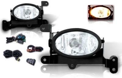 Headlights & Tail Lights - Fog Lights - WinJet - Honda Civic 2DR WinJet OEM Fog Light - Clear - Wiring Kit Included - WJ30-0058-09