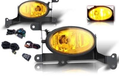 Headlights & Tail Lights - Fog Lights - WinJet - Honda Civic 2DR WinJet OEM Fog Light - Yellow - Wiring Kit Included - WJ30-0058-12