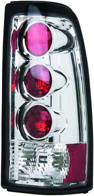 Headlights & Tail Lights - Tail Lights - APC - GMC Sierra APC Euro Taillights with Chrome Housing - 404118TLR