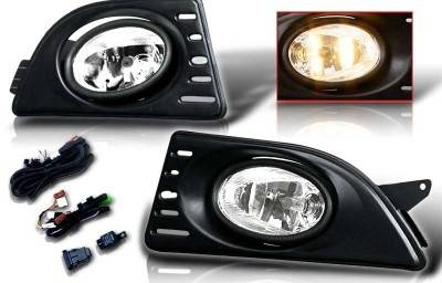 Headlights & Tail Lights - Fog Lights - WinJet - Acura RSX WinJet OEM Fog Ligth - Smoke - Wiring Kit Included - WJ30-0060-11