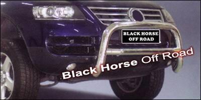 Grilles - Grille Guard - Black Horse - Volkswagen Touareg Black Horse Bull Bar - BBVOTOA-SP