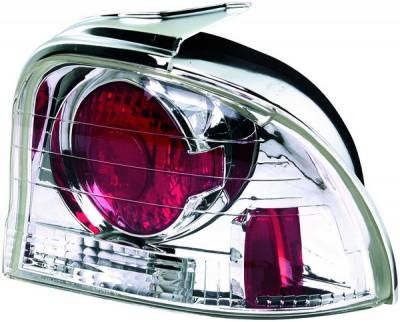 Headlights & Tail Lights - Tail Lights - APC - Dodge Neon APC Euro Taillights with Chrome Housing - 404121TLR