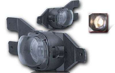 Headlights & Tail Lights - Fog Lights - WinJet - Ford F250 WinJet Halo Projector Fog Light - Smoke - WJ30-0062-11
