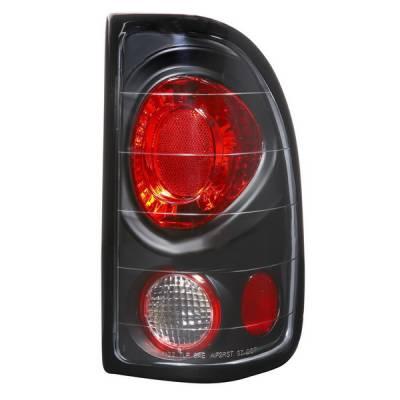 Headlights & Tail Lights - Tail Lights - APC - Dodge Dakota APC Euro Taillights with Black Housing - 404122TLB