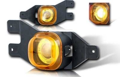 Headlights & Tail Lights - Fog Lights - WinJet - Ford F250 WinJet Halo Projector Fog Light - Yellow - WJ30-0062-12