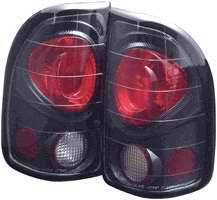 Headlights & Tail Lights - Tail Lights - APC - APC Euro Taillights with Carbon Fiber Housing - 404122TLCF