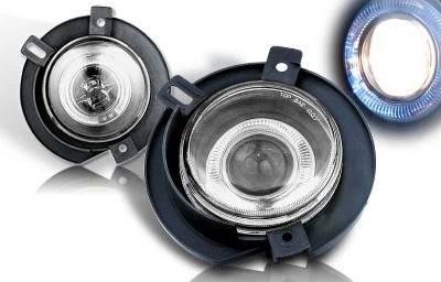 Headlights & Tail Lights - Fog Lights - WinJet - Ford Explorer WinJet Halo Projector Fog Light - Smoke - WJ30-0063-11
