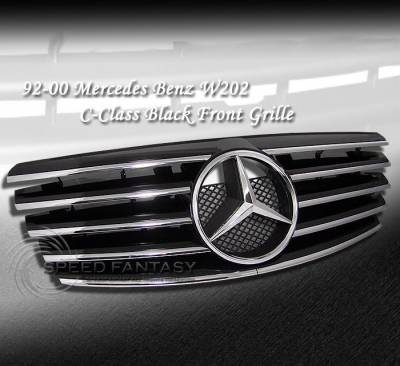 Grilles - Custom Fit Grilles - Custom - W202 Full Sports Grille Black