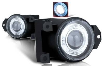Headlights & Tail Lights - Fog Lights - WinJet - GMC Yukon WinJet Halo Projector Fog Light - Clear - WJ30-0064-09