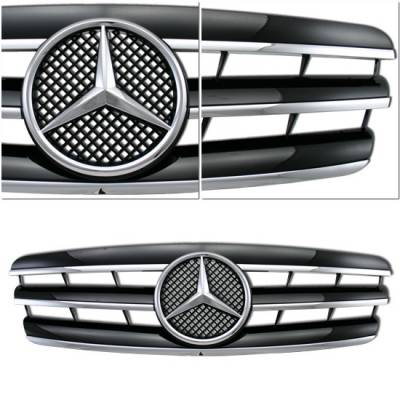 Grilles - Custom Fit Grilles - Custom - S Style W203 C Class Grille - Black