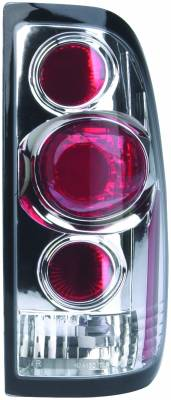 Headlights & Tail Lights - Tail Lights - APC - Ford F550 APC Euro Taillights with Chrome Housing - 404130TLR