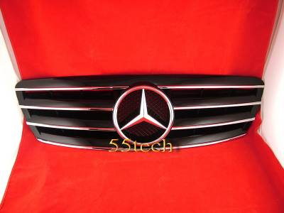 Grilles - Custom Fit Grilles - Custom - CL Style W203 C Class Grille - Black