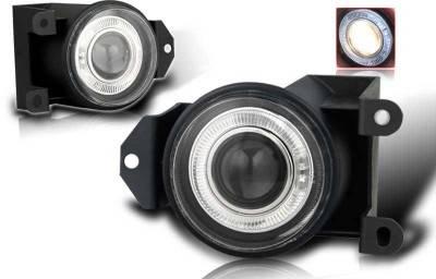 Headlights & Tail Lights - Fog Lights - WinJet - GMC Yukon WinJet Halo Projector Fog Light - Smoke - WJ30-0064-11