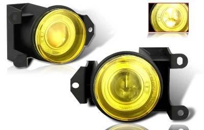 Headlights & Tail Lights - Fog Lights - WinJet - GMC Yukon WinJet Halo Projector Fog Light - Yellow - WJ30-0064-12