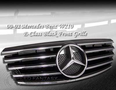 Grilles - Custom Fit Grilles - Custom - W210 00-02 Grille Black