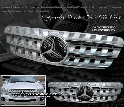 Grilles - Custom Fit Grilles - Custom - 06 Style Panel Grille - Silver or Black