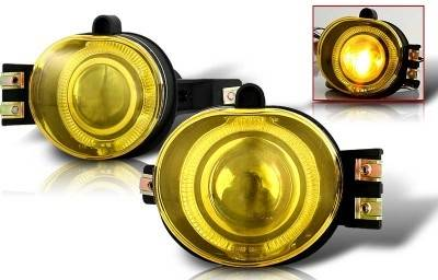 Headlights & Tail Lights - Fog Lights - WinJet - Dodge Ram WinJet Halo Projector Fog Light - Yellow - WJ30-0065-12
