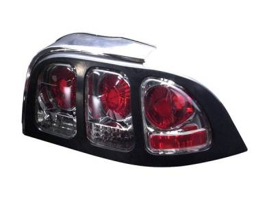 Headlights & Tail Lights - Tail Lights - APC - Ford Mustang APC Euro Taillights with Black Housing - 404138TLB