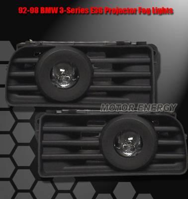Headlights & Tail Lights - Fog Lights - Custom - Projector Fog Lights - Black