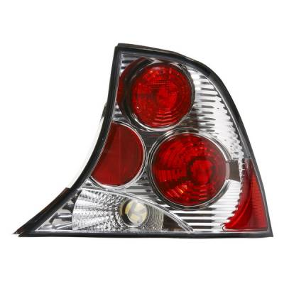 Headlights & Tail Lights - Tail Lights - APC - Ford Focus 4DR APC Euro Taillights with Chrome Housing - 404139TLR
